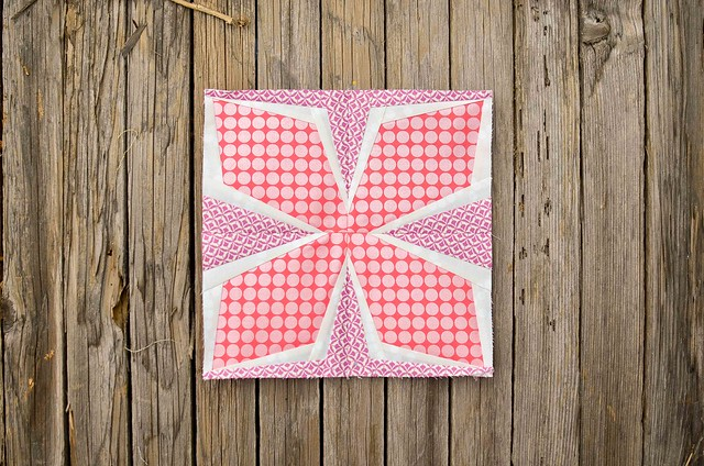 diamond flower quilt block