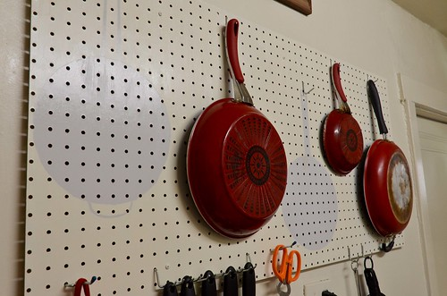 Kitchen Pegboard (Pot & Pan Outlines)