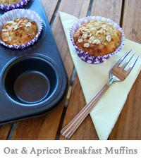 oat & apricot breakfast muffins