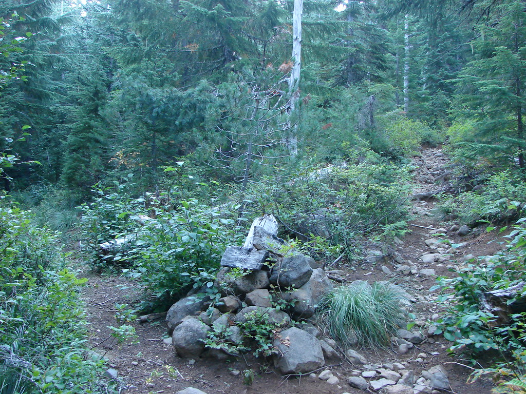 South Breitbenbush Trail junction with the Bear Point Trail