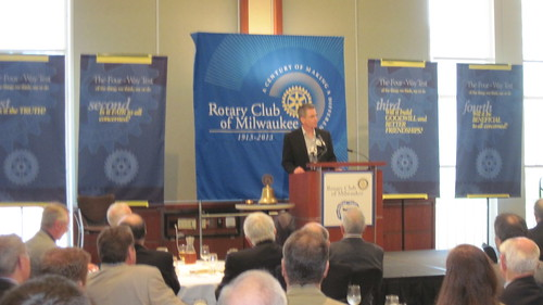 Rotary event with Bob McGinn on May 7, 2013.