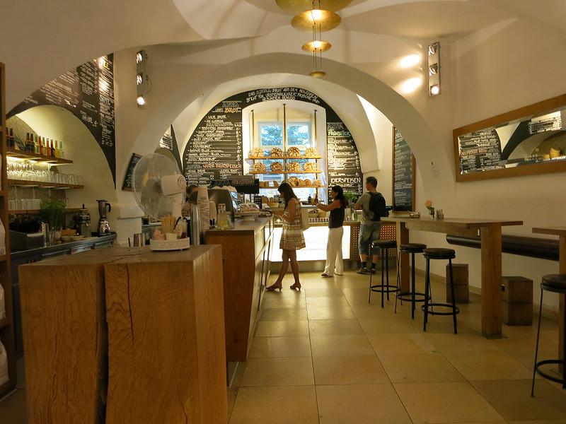 Organic café in Regensburg.