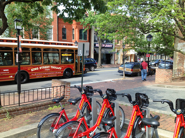 Bikeshare, Buses, Peds + Cars in Old Town