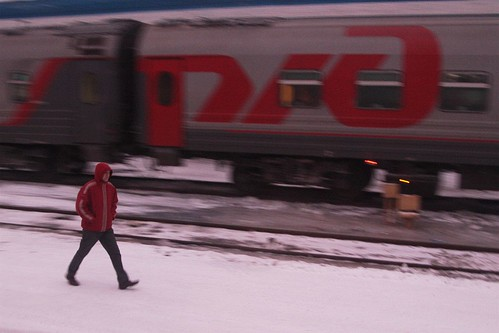 Early morning stroll through a Russian railway yard