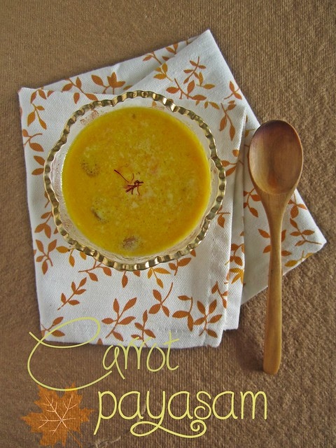 Carrot Payasam|Southern Flavours Book Review