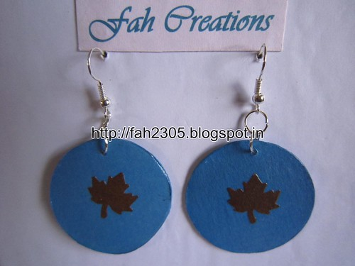Handmade Jewelry - Paper Punch Earrings (14) by fah2305