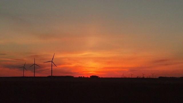 Manitou, Manitoba sunset