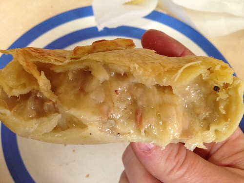 Inside Tuna Mornay Pie