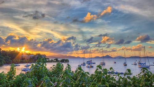sunset sailboat canon boats island bay unitedstates stjohn cruz sunburst nik caribbean hdr stthomas spyglass virginislands usvirginislands usvi cruzbay photomatix jeffparkes opticalbits