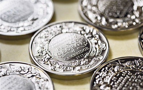 Prince George silver coins