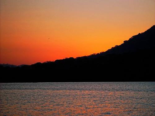 lake méxico atardecer laguna veracruz catemaco