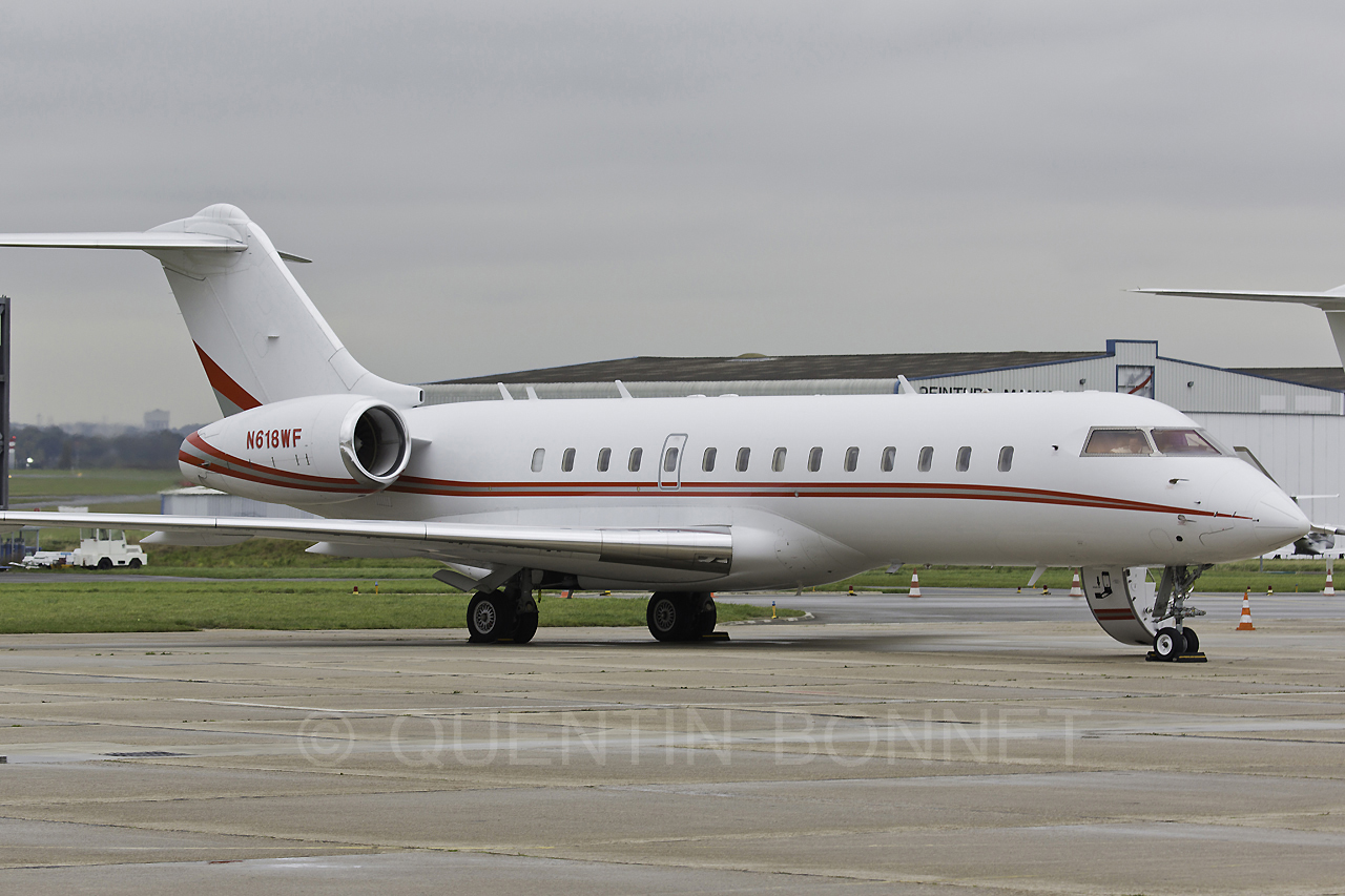 Private Bombardier BD-700-1A10 Global Express N618WF