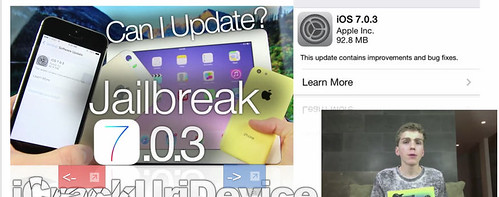 iOS 7.0.3 Jailbreak Safe, iPad Air, New Update Changes, iPad Mini 2, Air Release & More by pcrif