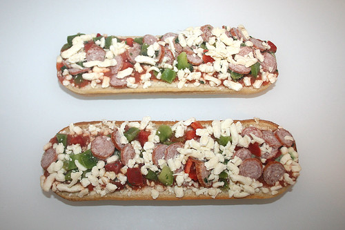 04 - Alberto Baguettes Salami - gefroren, ausgepackt / frozen, unwrapped