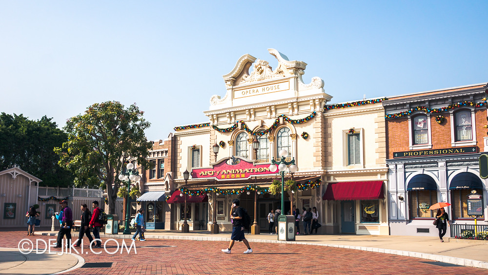 HKDL - Main Street USA Christmas Town - Animation Academy