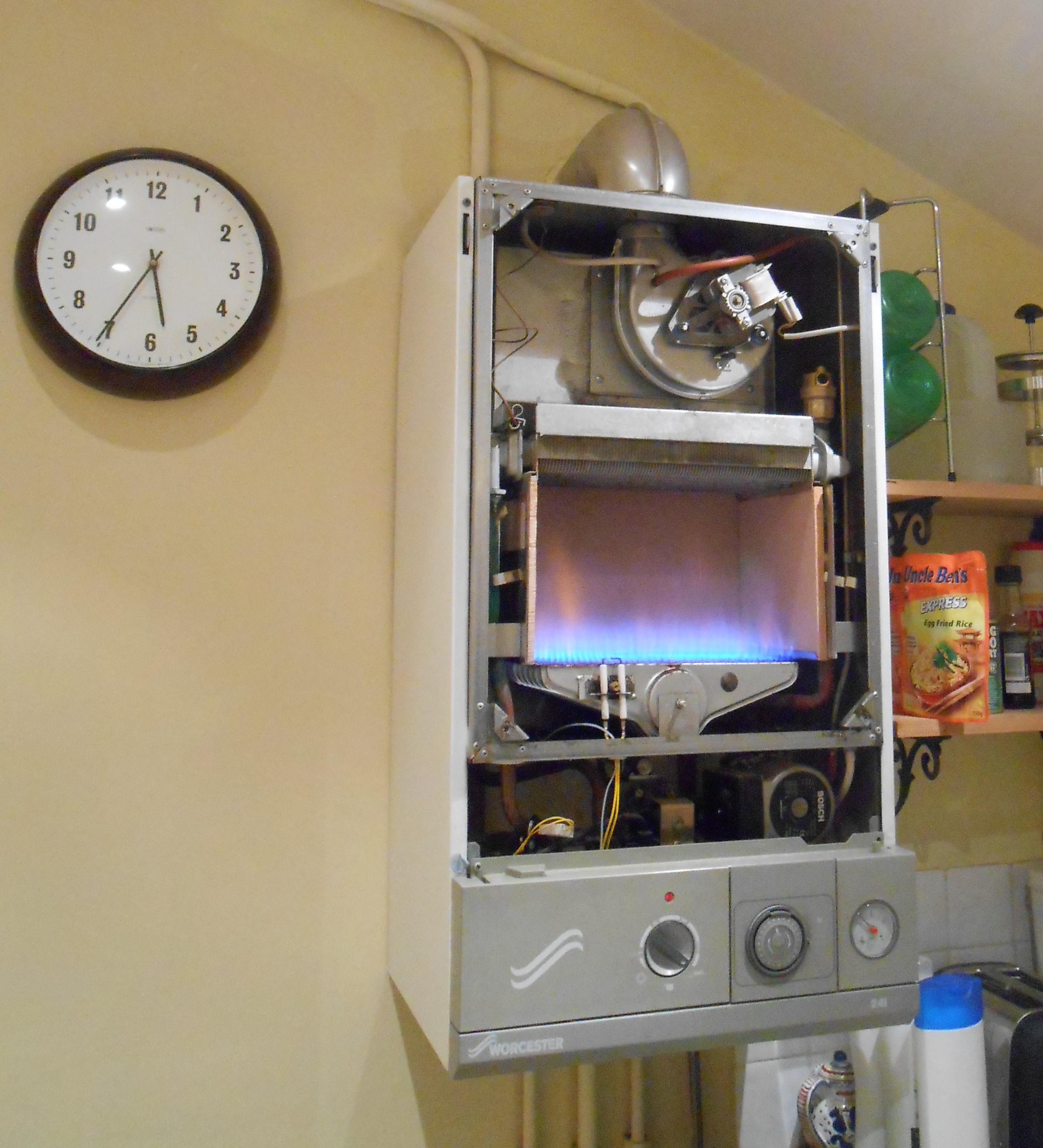 Boiler on full