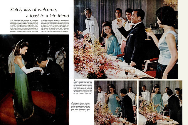 LIFE Magazine NOVEMBER 17, 1967 (2) - Stately kiss of welcome. a toast to a late friend