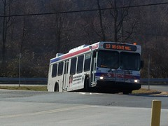 (SEPTA) 2004 New Flyer D40LF # 5828 at Tri-State Mall in Claymont Delaware