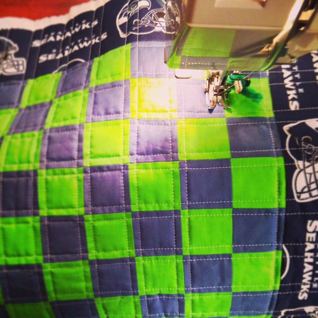 Seattle Seahawks Checker Board