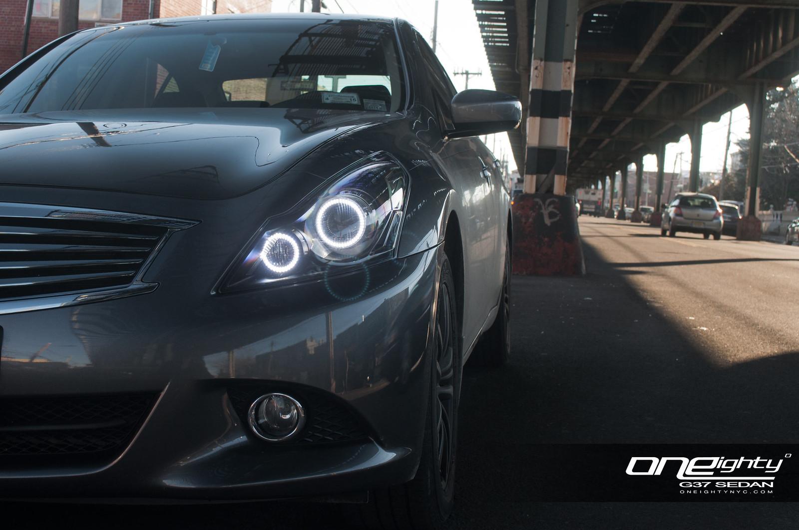 Vendor Oneighty G37 Sedan Custom Headlight Modification