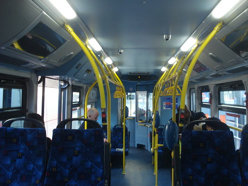 Interior of London General EB1 on Route 507, Victoria