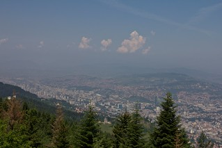 Mt. Trebevic view - hot & hazy