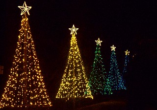 Christmas lights in Callaway Gardens