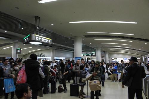 2014/01/02 那覇空港の羽田行き
