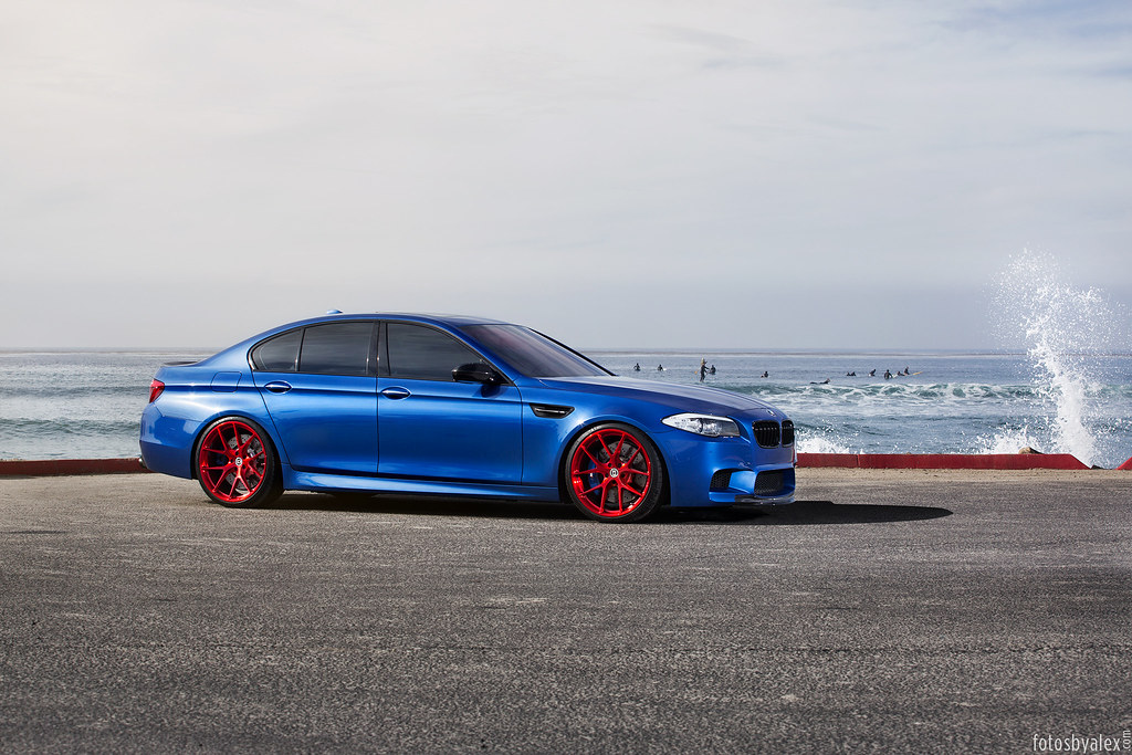 Photoshoot Blue Bmw M5 Red Wheels Evolutionm
