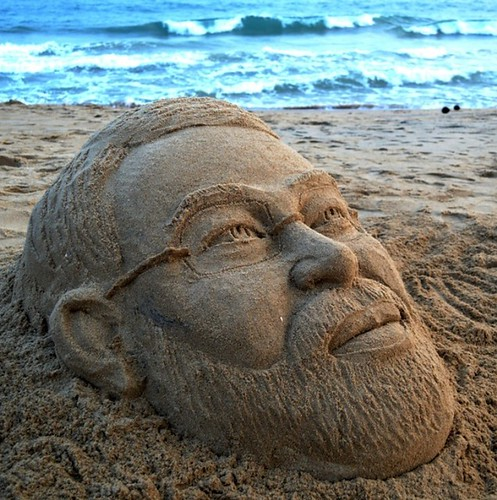 Narandra Modi sandart at puri sea beach