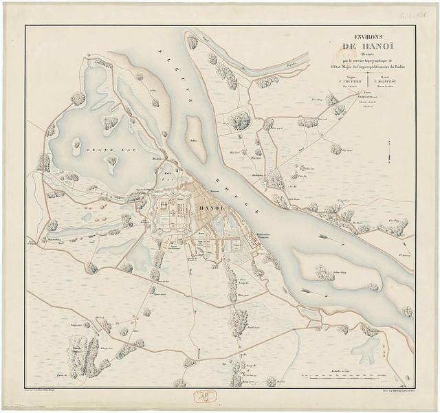 Bản đồ HANOI 1885