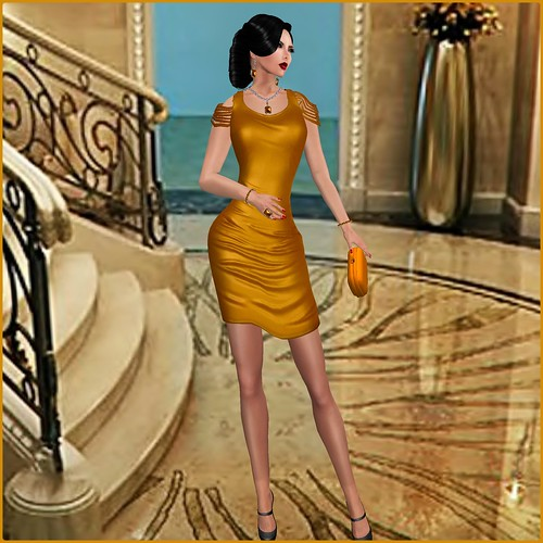 [AMARELO MANGA] - DRESS IZADORA [ GOLD] by Orelana resident