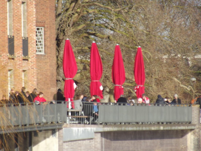 The Royal Shakespeare Theatre - Stratford-upon-Avon - umbrellas