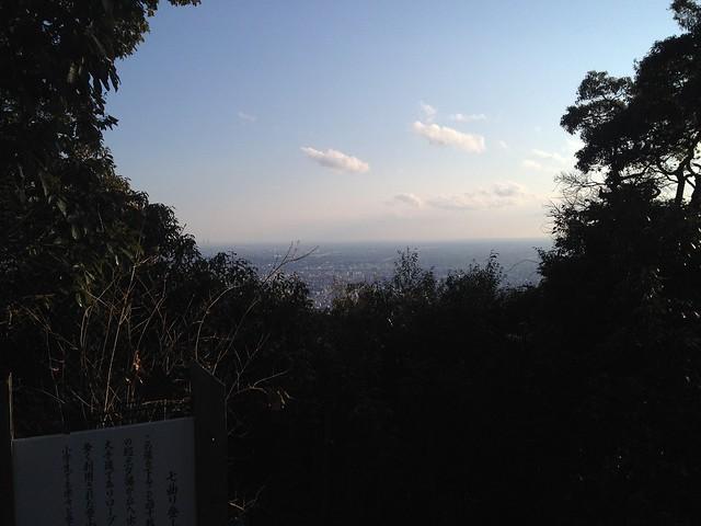 金華山 七曲登山道出口からの展望