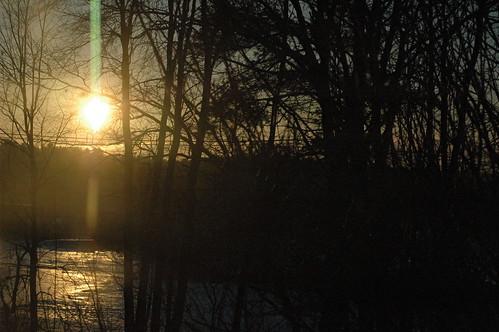 morning trees winter sky snow cold beautiful weather sunrise nikond70 newengland sunnyday