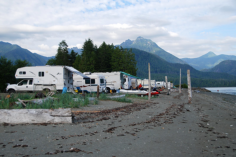 Toquart Bay Campground, Barkley Sound, West Coast Vancouver Island, British Columbia