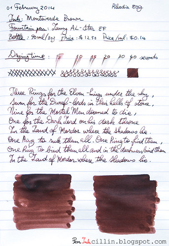 Monteverde Brown on Rhodia