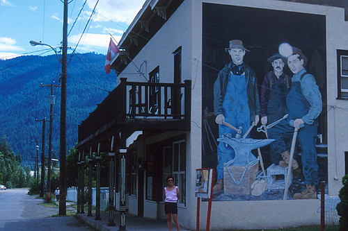 Mural in Hedley, Similkameen, South Okanagan, British Columbia, Canada