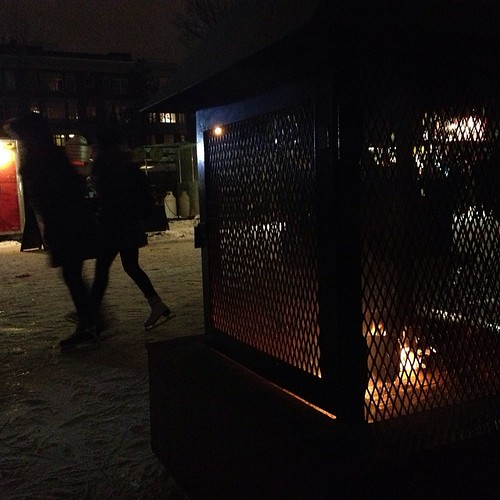 It was just as cold standing around the fire.  #skateway #ottawa  #winterlude