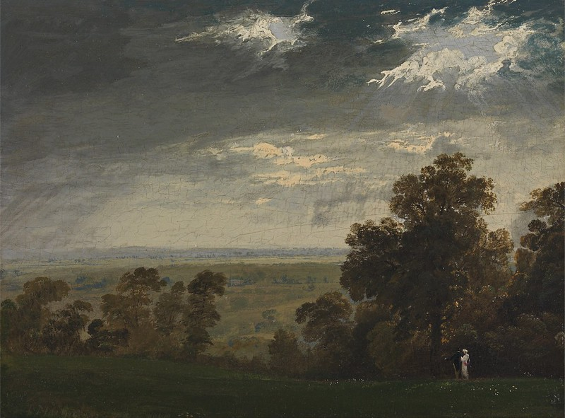 John Martin - Landscape, Possibly the Isle of Wight or Richmond Hill (1815)