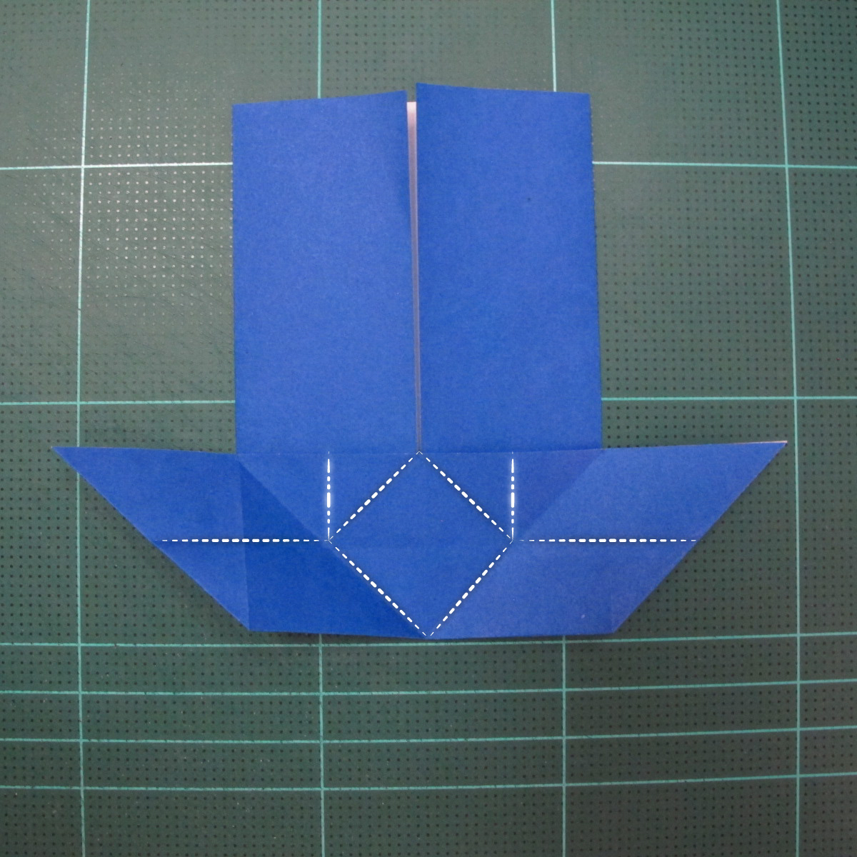 วิธีการพับกระดาษเป็นรูปกระต่าย แบบของเอ็ดวิน คอรี่ (Origami Rabbit)  008