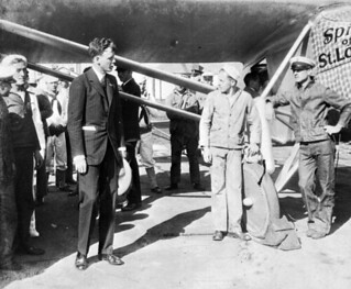 """Charles Lindbergh with the """"Spirit of St. Louis"""" - Jacksonville"""