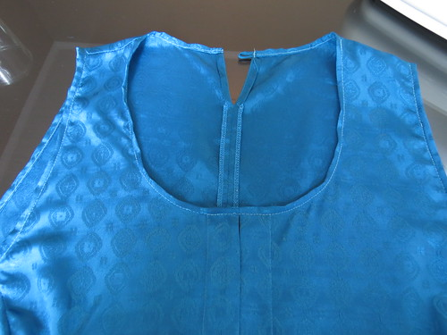 Blue Buttons Blouse - In Progress