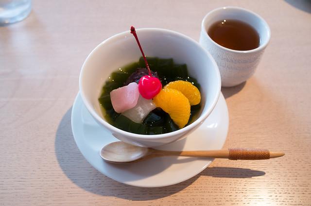 赤城神社 抹茶あんみつ