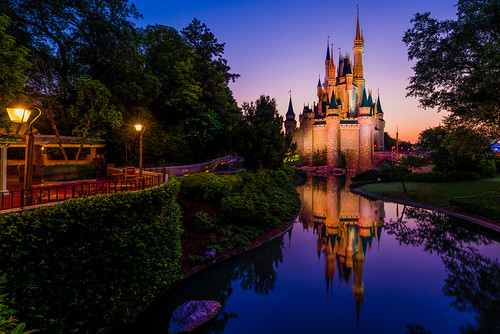 world morning bridge color reflection castle water sunrise square landscape liberty dawn golden orlando nikon day angle florida magic kingdom disney hour cinderella wdw walt ultrawide fantasyland 2014 uwa d610