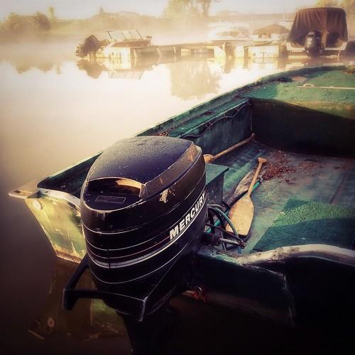 canada water marina sunrise river boat fishingboat iphone grayscreek iphoneography hipstamatic grayscreekmarina