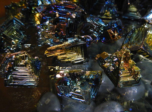 Bismuth crystals in a gem store in Banff