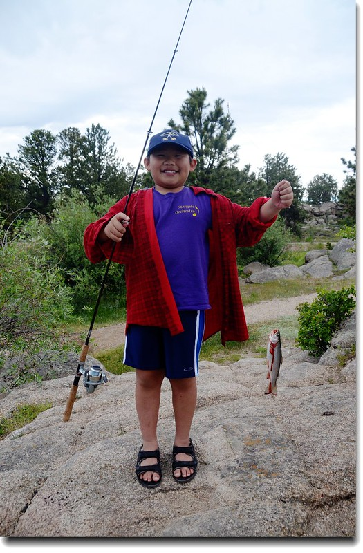 Jacob caught a fish!! 5