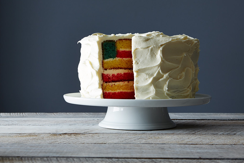Fourth of July Cake: Flag Cake