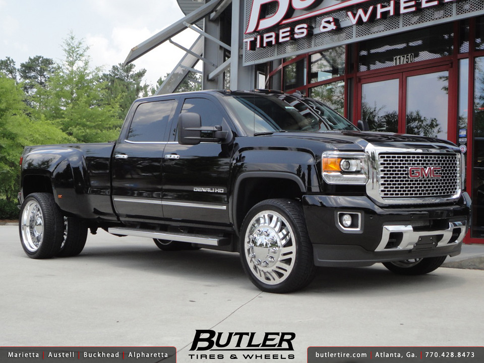 GMC Denali 3500 Dually with 24in American Force Shift Whee ...